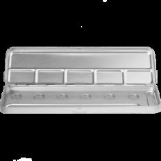 Пенал-палитра металлическая для акварели Make-Up Atelier Paris M6C на 6 позиций