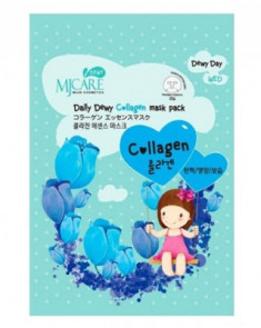 Маска тканевая с коллагеном Mijin Care Daily Dewy Сollagen Mask Pack 25г