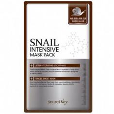 маска для лица тканевая с муцином улитки secret key snail intensive mask pack