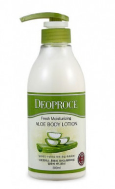 Лосьон для тела с алоэ DEOPROCE FRESH MOISTURIZING ALOE BODY LOTION 500мл