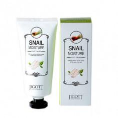 Увлажняющий крем для ног с улиточным муцином JIGOTT Snail Moisture Foot Cream