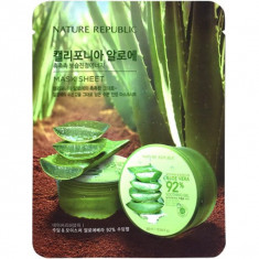 маска для лица листовая с алоэ nature republic california aloe vera mask sheet