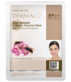 Тканевая маска пчелиный яд и коллаген Dermal Bee Venom Collagen Essence Mask 23 мл