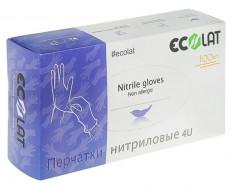ECOLAT Перчатки нитриловые, фиолетовые, размер L / 4U EcoLat 100 шт