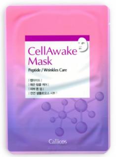 Тканевая маска омолаживающая с пептидами CellAwake Peptide 25 г Callicos