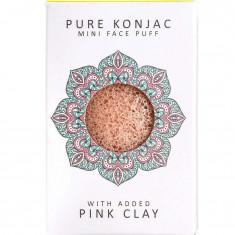 Воздушный подарочный мини-спонж конняку для лица Premium с розовой глиной THE KONJAC SPONGE COMPANY