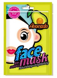 Маска для лица тканевая BLING POP AVOCADO NOURISHING & BRIGHTENING MASK