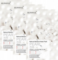 Набор тканевых масок с экстрактом жемчуга EUNYUL NATURAL MOISTURE MASK PACK PEARL 22мл*3шт