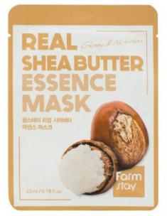 Тканевая маска для лица с маслом Ши FarmStay REAL SHEA BUTTER ESSENCE MASK 23мл