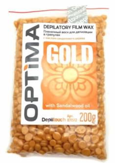 DEPILTOUCH PROFESSIONAL Воск пленочный в гранулах, с маслом сандалового дерева / OPTIMA GOLD 200 г
