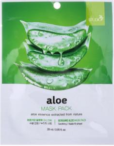 Тканевая маска для лица с экстрактом алоэ Bergamo Aloe Mask Pack 28 мл