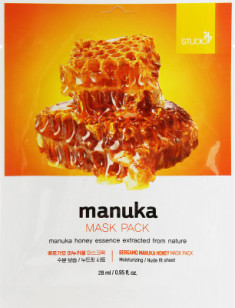 Тканевая маска с экстрактом меда манука BERGAMO Manuka Honey Mask Pack 28мл