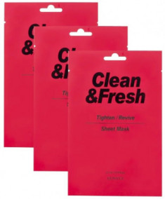 Набор тканевых масок для сужения пор EUNYUL CLEAN & FRESH TIGHTEN-REVIVE SHEET MASK 22мл*3