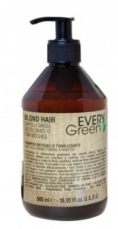 Шампунь против желтизны двойной концентрации Dikson EVERY GREEN Antiyellow shampoo double concentration 500мл