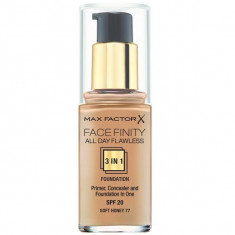 Max factor, facefinity all day flawless, тональная основа 3в1, тон 77, soft honey, 30 мл
