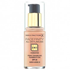 Max factor, facefinity all day flawless, тональная основа 3в1, тон 45, warm almond, 30 мл