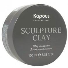 Kapous глина для укладки волос нормальной фиксации «sculpture clay» 100 мл