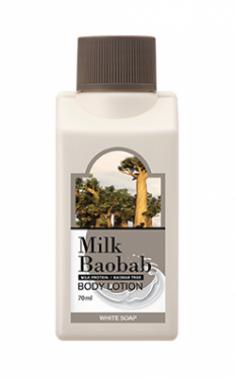 Лосьон для тела с ароматом белого мыла Milk Baobab Body Lotion White Soap Travel Edition 70мл