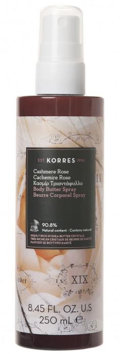 KORRES Молочко-спрей для тела, кашемировая роза 250 мл