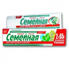 Зубная паста Семейная с экстрактом подорожника и зверобоя 130мл Свобода