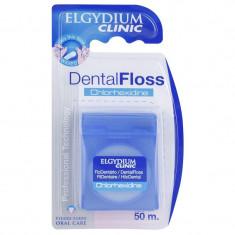 Эльгидиум Клиник Хлоргексидин Зубная нить вощеная 50 м Elgydium