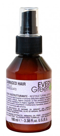 DIKSON Сыворотка реструктурирующая для волос / EVERYGREEN DAMAGER HAIR restructuring serum 100 мл