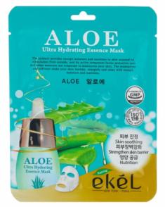 Тканевая маска для лица с экстрактом алоэ EKEL Aloe Ultra Hydrating Essence Mask 25г