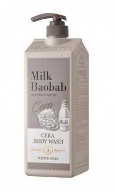 Гель для душа с керамидами, с ароматом белого мыла MILK BAOBAB Cera Body Wash White Soap 1200 мл