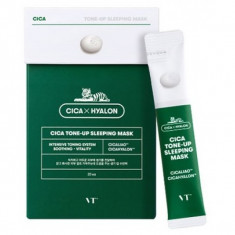 ночная маска для лица с эффектом сияния кожи vt cosmetics cica tone-up sleeping mask