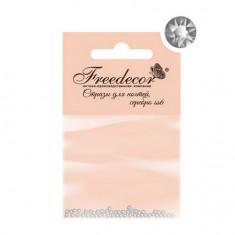 Freedecor, Стразы для ногтей «Графит», 1,8 мм